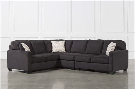 Display product reviews for KIT-ALENYA CHARCOAL 3 PIECE SECTIONAL W/RAF LOVESEAT