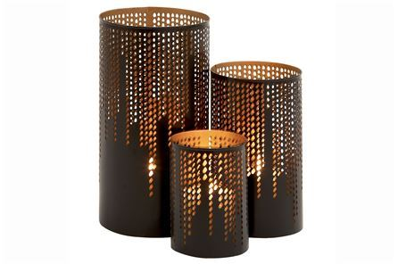 Display product reviews for 3 PIECE SET SKYLINE CANDLEHOLDERS