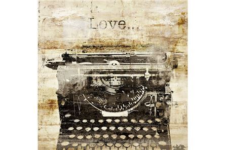 Display product reviews for PICTURE-TYPEWRITER LOVE