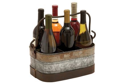 Display product reviews for GALVANIZED METAL WINE HOLDER