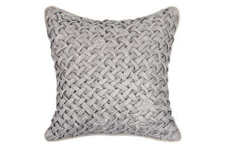 Display product reviews for ACCENT PILLOW-ALLURE GREY BASKETWEAVE 18X18