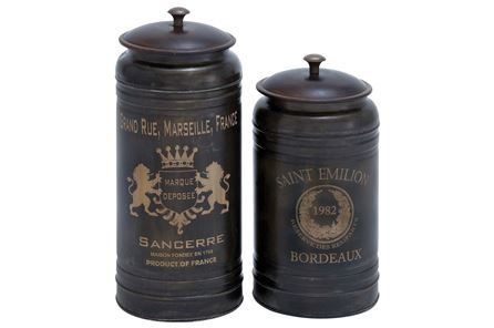 Display product reviews for 2 PIECE SET METAL CANISTERS