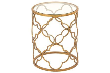 Display product reviews for LALITA METAL & GLASS ACCENT TABLE