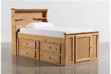 Display product reviews for KIT-SUMMIT CARAMEL TWIN BOOKCASE BED W/SINGLE 4-DRW STORAGE