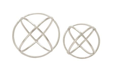 Display product reviews for 2 PIECE SET SILVER RING ORBS