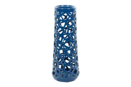 Display product reviews for GEO CUTWORK TURQUOISE VASE LARGE