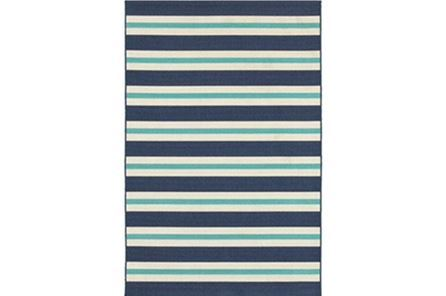 Display product reviews for 94X130 OUTDOOR RUG-CABANA STRIPES BLUE