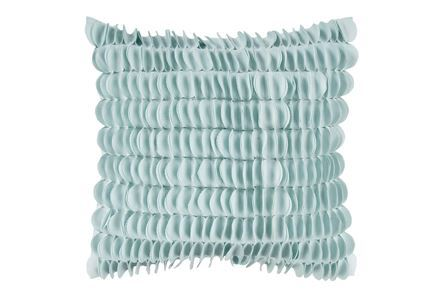 Display product reviews for PROMO PILLOW-AVIA TURQUOISE RUFFLE 18X18