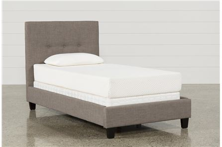 Display product reviews for KIT-HUNTER TWIN UPHOLSTERED PLATFORM BED