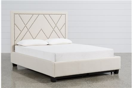 Display product reviews for KIT-ALYSON QUEEN UPHOLSTERED PLATFORM BED
